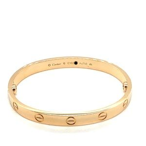 Cartier 18k yellow gold love bracelet